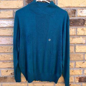 🌺Dressbarn Aqua Turtleneck Sweater XL NWT